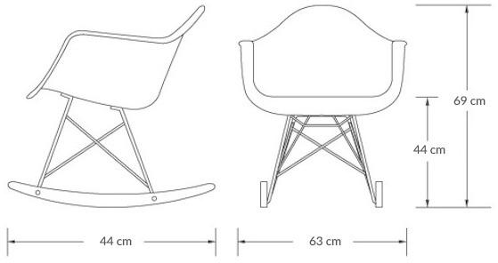 ابعاد صندلی راک