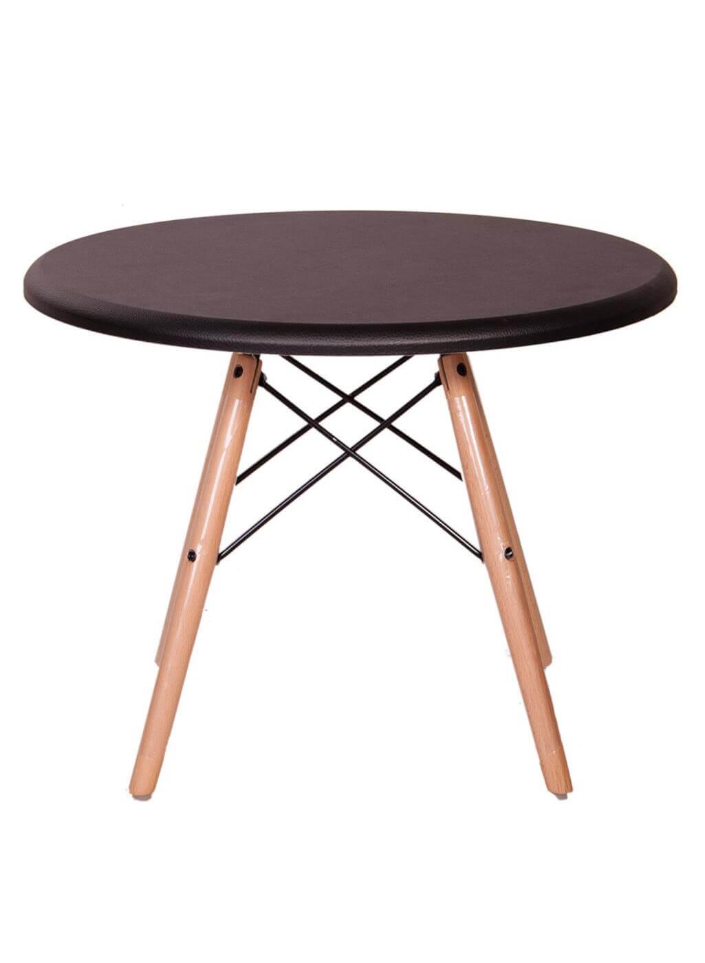 میز عسلی گرد با پایه ایفلی چوبی مدل TL1