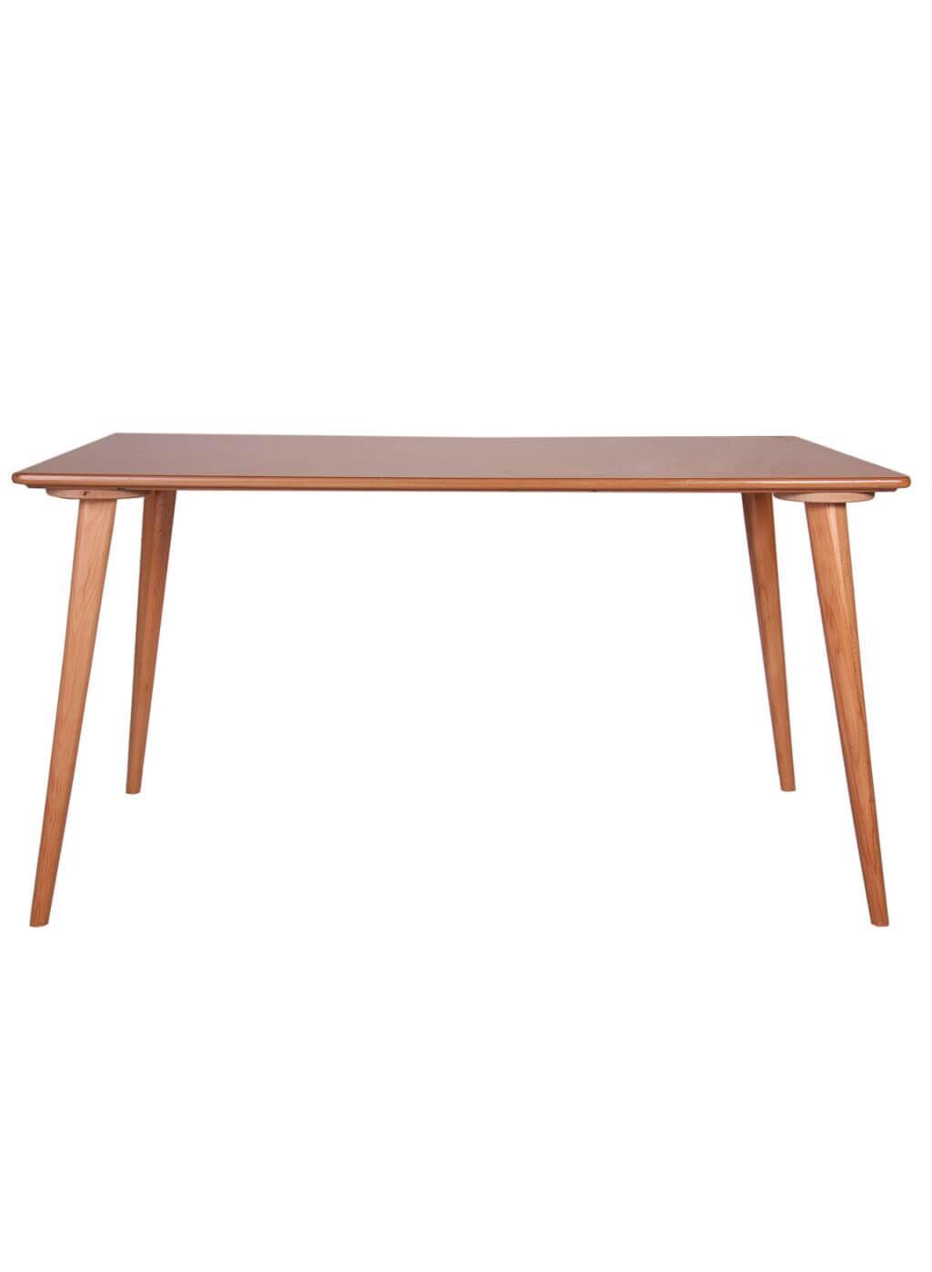 میز ناهار خوری مستطیل پایه چوبی مدل TW2