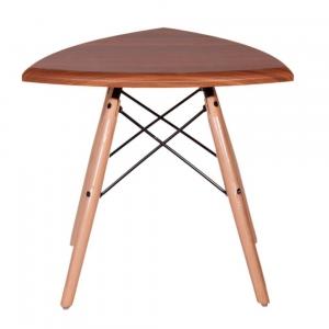 میز عسلی مثلث با پایه ایفلی چوبی