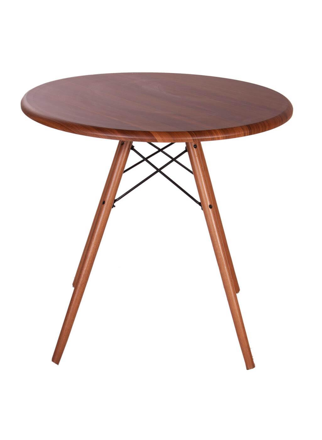 میز گرد پایه ایفلی چوبی
