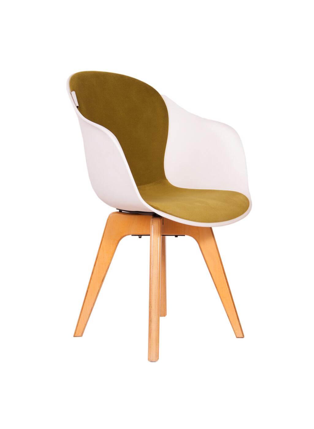صندلی مدرن پایه چوبی کامفورت