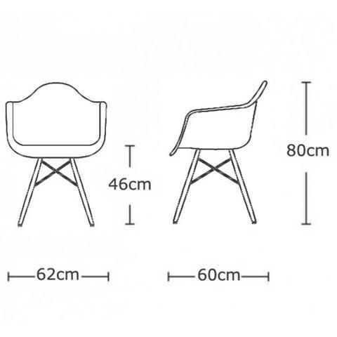 ابعاد صندلی مدرن ایزی طرح روزنامه