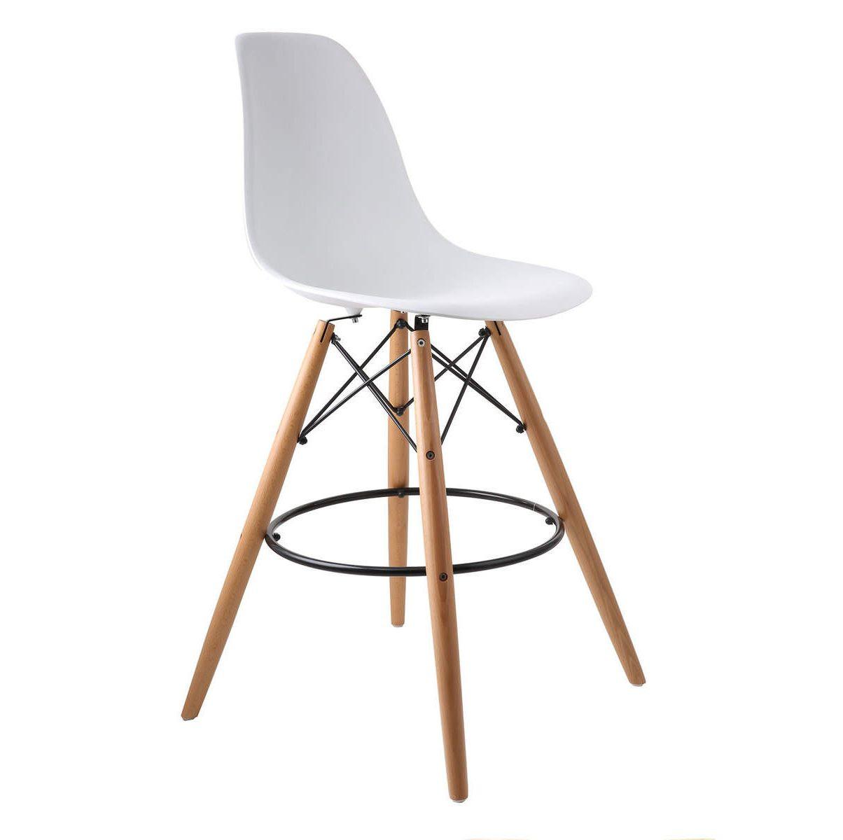 صندلی اپن پایه چوبی بلند داووس