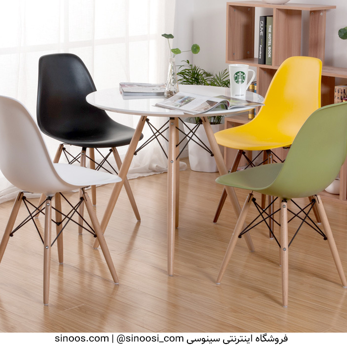 میز ناهار خوری پایه ایفلی چوبی