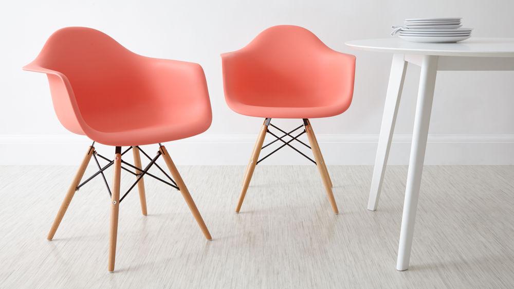 صندلی مدرن پایه ایفلی چوبی ایزی