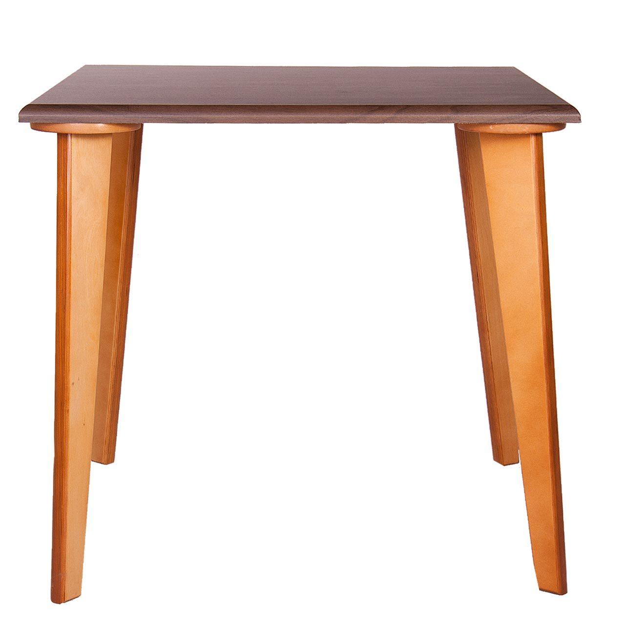 میز ناهارخوری چهارگوش پایه چوبی مدل TC3-90
