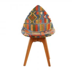 صندلی مدرن دیبا پایه چوبی مدل DB-تشک طرحدار