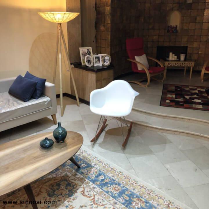 صندلی راک مدرن سفید