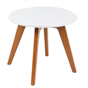میز عسلی پایه چوبی